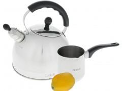 Чайник со свистком БРЕНТ  3 л. + Турка ДЖЕННА 0,6 л.