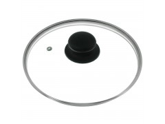 Крышка стеклянная с металлическим ободом 24 см. (низкая)