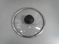 """Крышка стеклянная с широким  металлическим ободом  """"Tima"""" 20 см. (низкая)"""