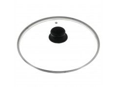 """Крышка стеклянная с металлическим ободом  """"Tima"""" 26 см. (низкая)"""