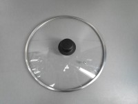 """Крышка стеклянная с широким  металлическим ободом  """"Tima"""" 28 см. (низкая)"""