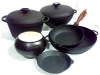 Посуда из чугуна и аллюминия